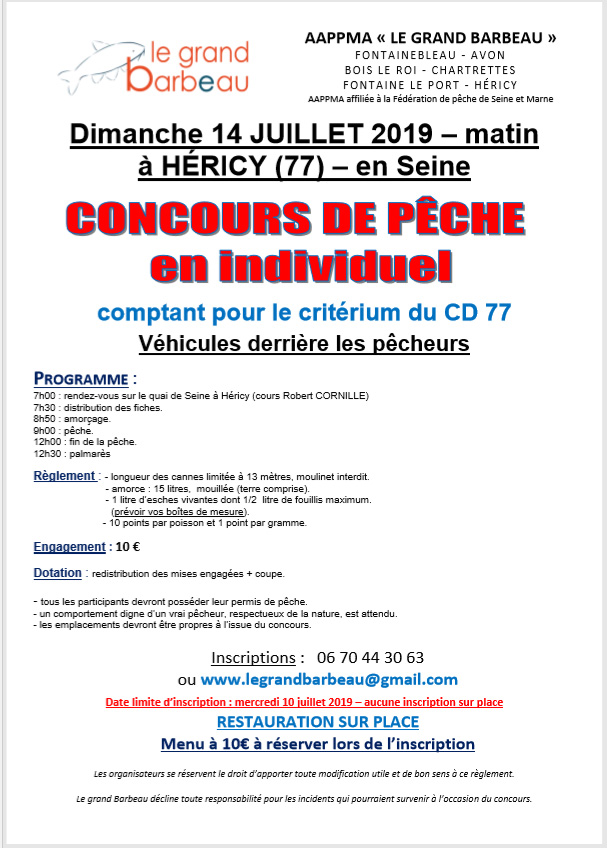 concours Hericy 2019