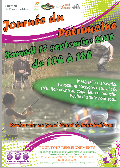 evenement mouche au grand canal de fontainebleau
